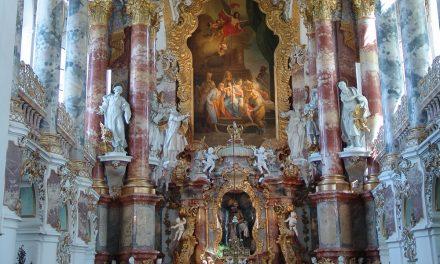 Die Wieskirche bei  Steingaden